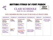 color class schedule