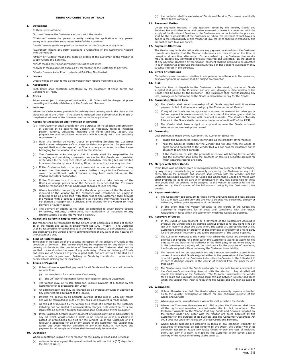 Account ApplicationTerms & Conditions March 2009.pdf - page 1/3