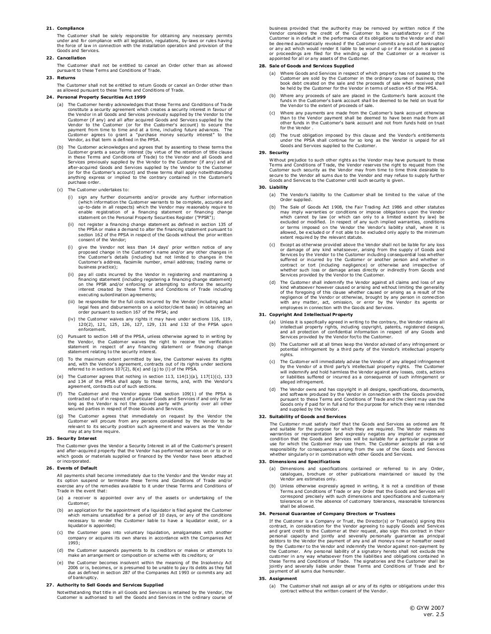 Account ApplicationTerms & Conditions March 2009.pdf - page 2/3