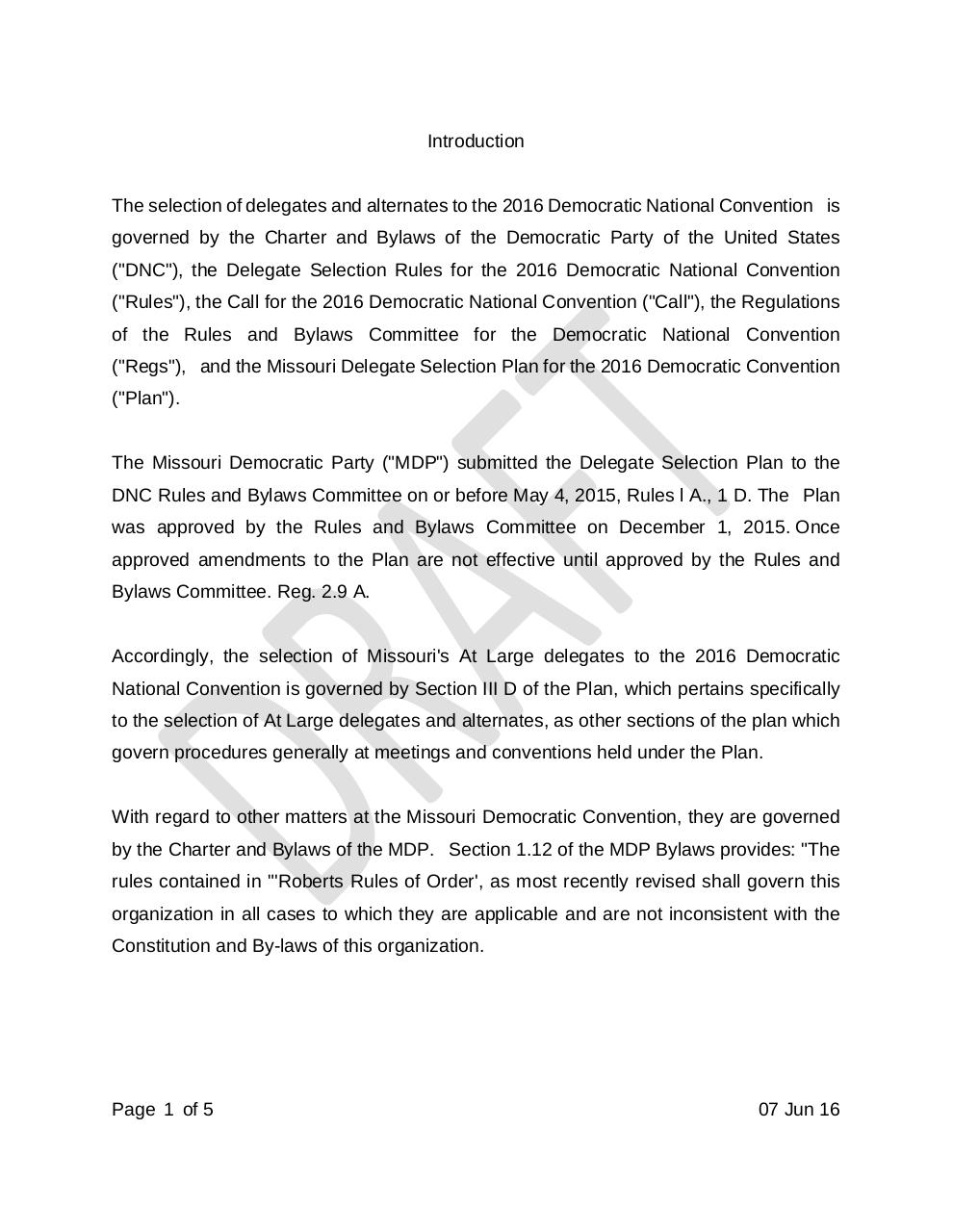 Document preview Draft Rules of MDP 2016 State Convention.pdf - page 1/5