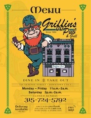 griffins menu