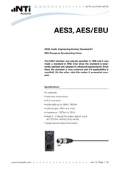 nti audio appnote aes3 aes ebu