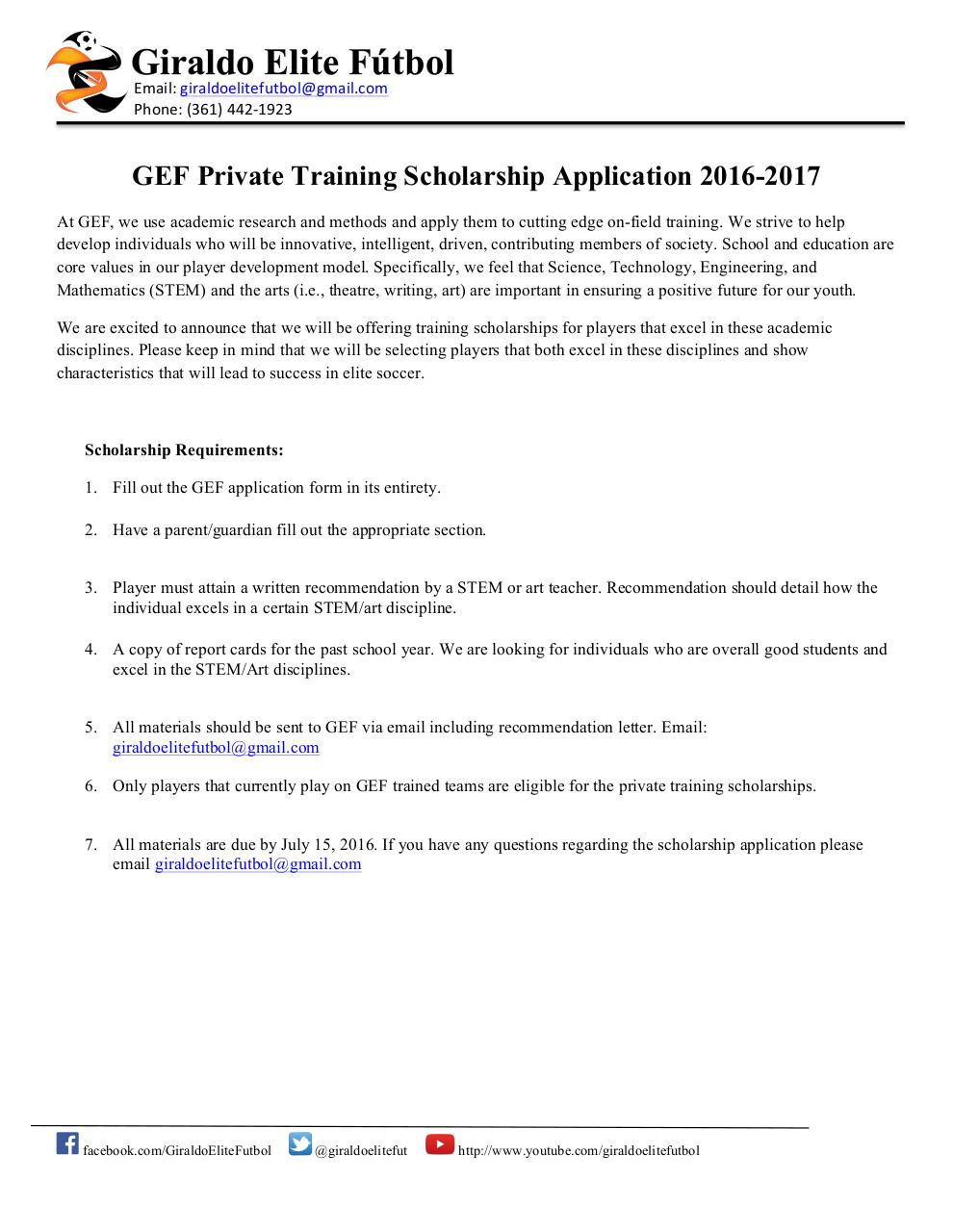 GEF Scholarship Application 2016-2017.pdf - page 1/4