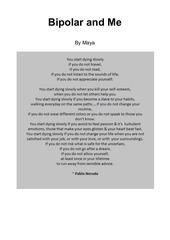 bipolar and me maya