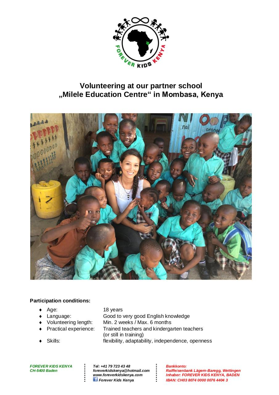 Document preview Forever Kids Kenya - Volunteering Program_2016_ENG.pdf - page 1/5