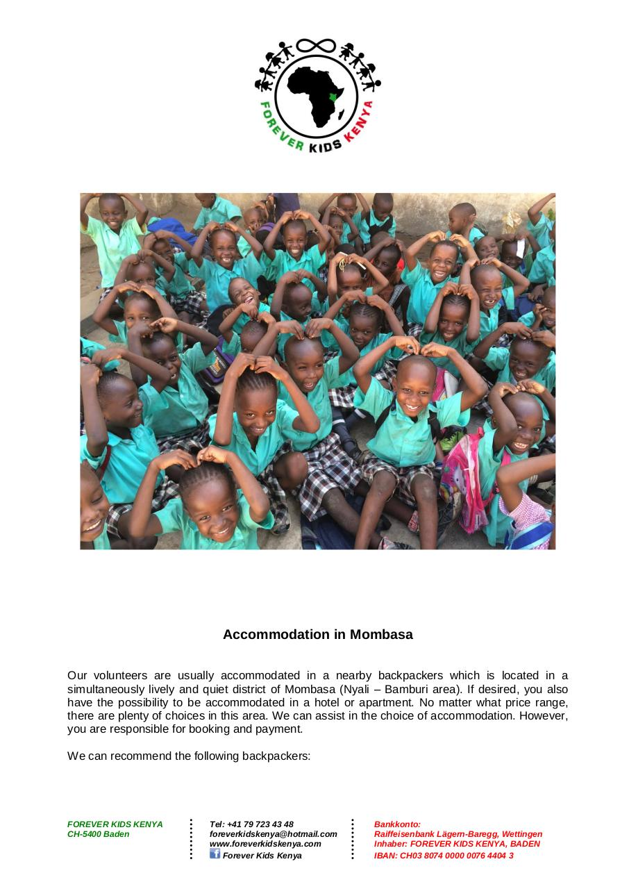 Document preview Forever Kids Kenya - Volunteering Program_2016_ENG.pdf - page 4/5