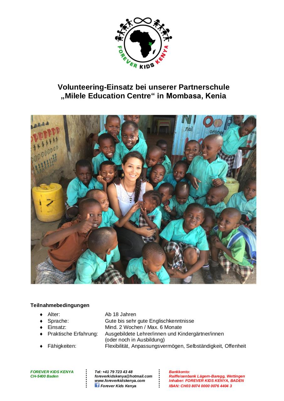 Forever Kids Kenya - Volunteering Program_2016_GER.pdf - page 1/5