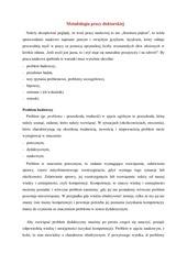 metodologia pracy doktorskiej