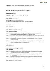 pics2016 programme