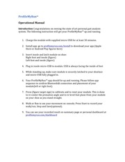profilemyrun operational manual