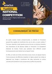 enactus tunisie communique de presse nc 2016
