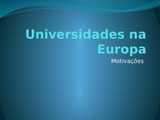 universidades na europa slide