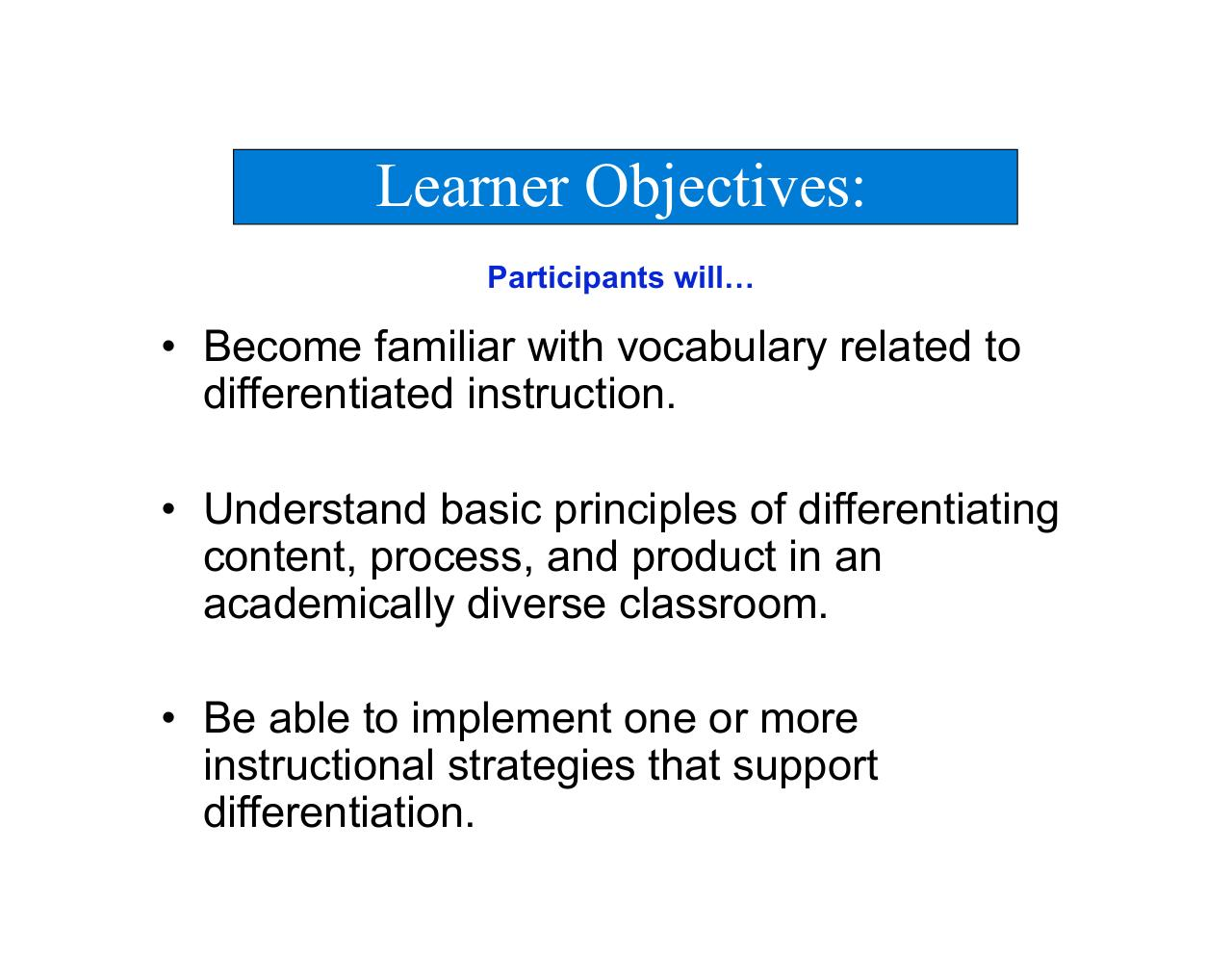 Differentiated Instruction For Diverse Learners Choice Image Form
