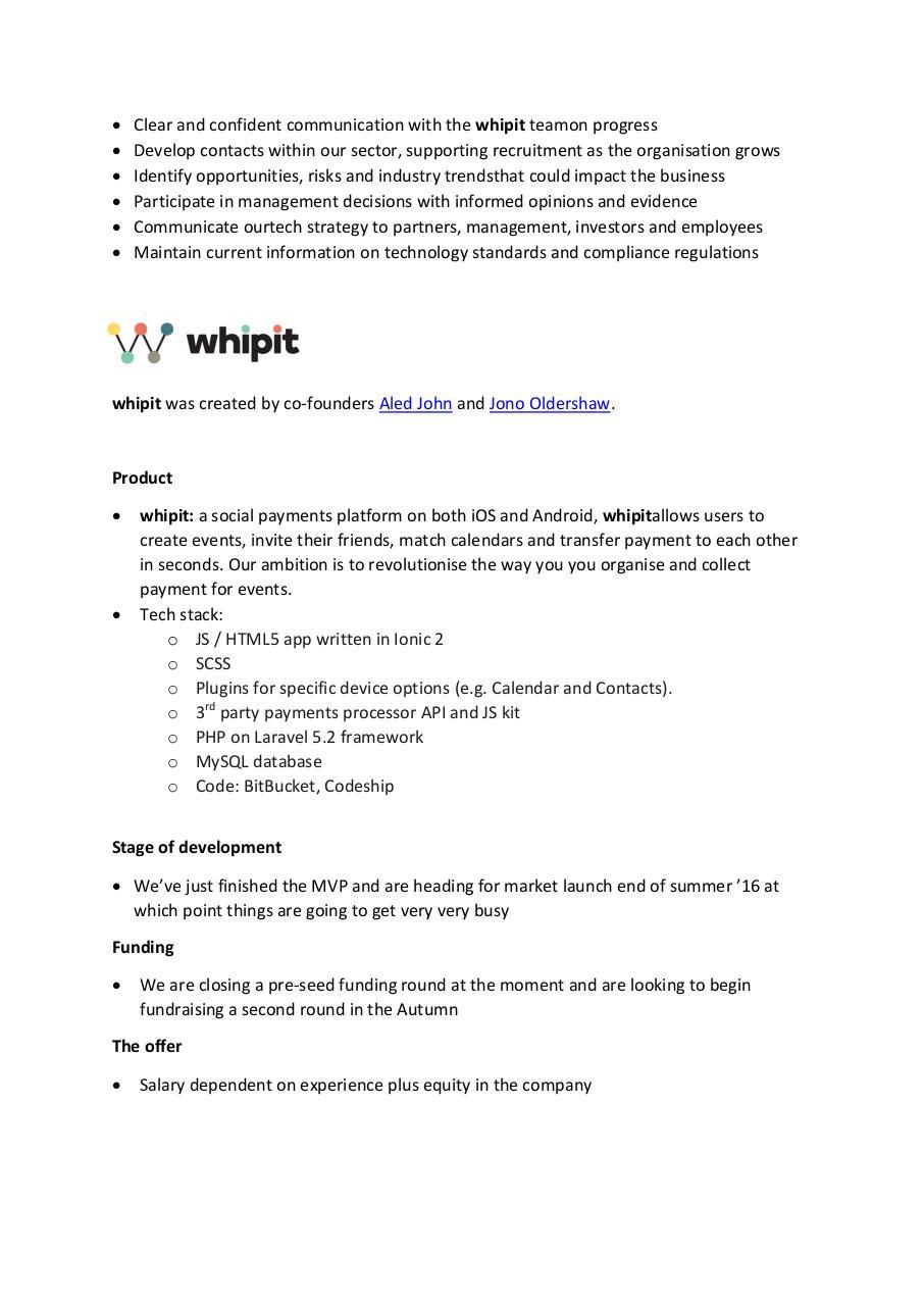 Senior Developer technical director Job Spec 1PDF PDF Archive – Technical Director Job Description