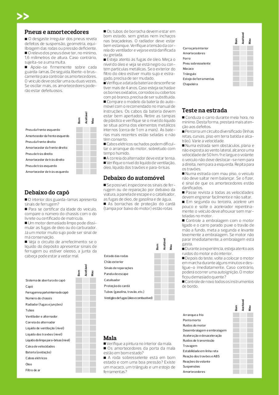 check list para carros usados - PDF Archive