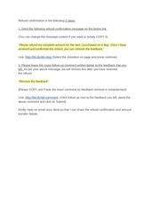 PDF Document refund confirm