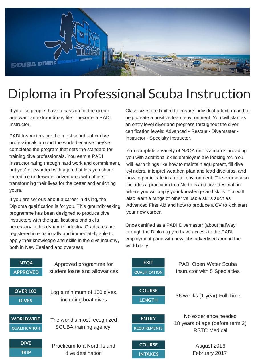 Document preview Diploma in Professional Scuba Instruction (2).pdf - page 1/2