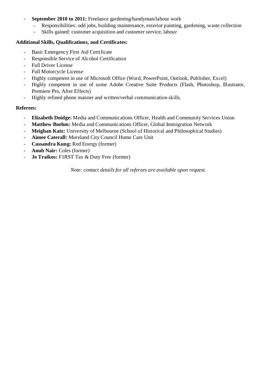 Timothy Baxter Resume by Svetlana - PDF Archive