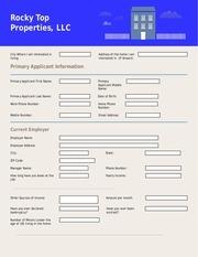 rental application 1