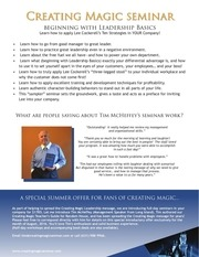 beginning with leadership basics onepager