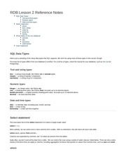 relational databases l2 notes