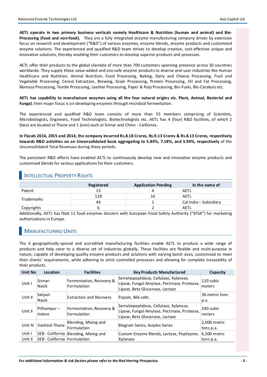 Advanced Enzyme Technologies_IPO Note_July16 (1).pdf - page 3/8