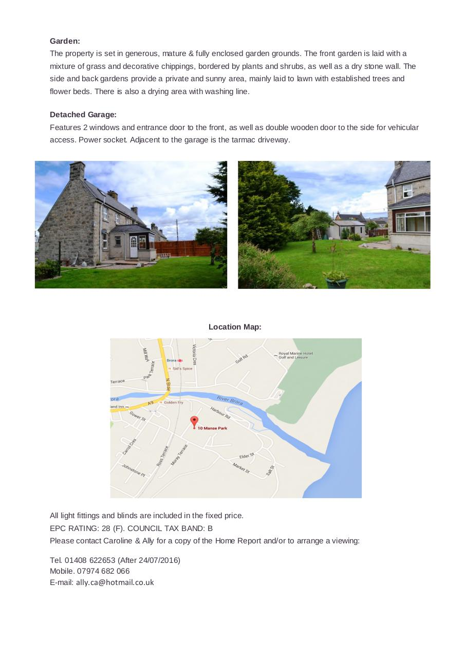Document preview Schedule - 10 Manse Park, Brora, KW9 6PT.pdf - page 4/4