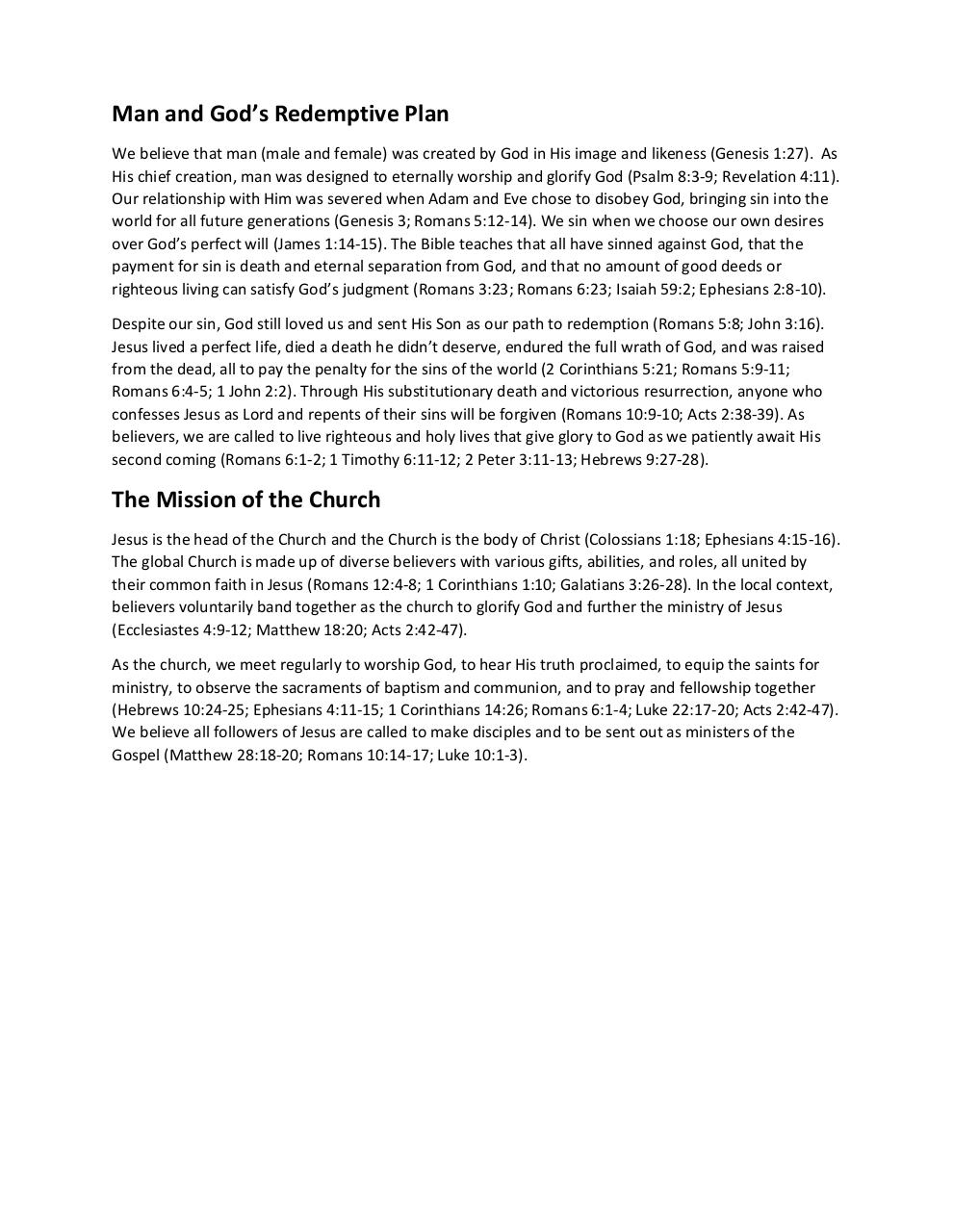 Document preview What We Believe - Rally Point Church.pdf - page 2/2