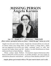 karmis missing poster bw