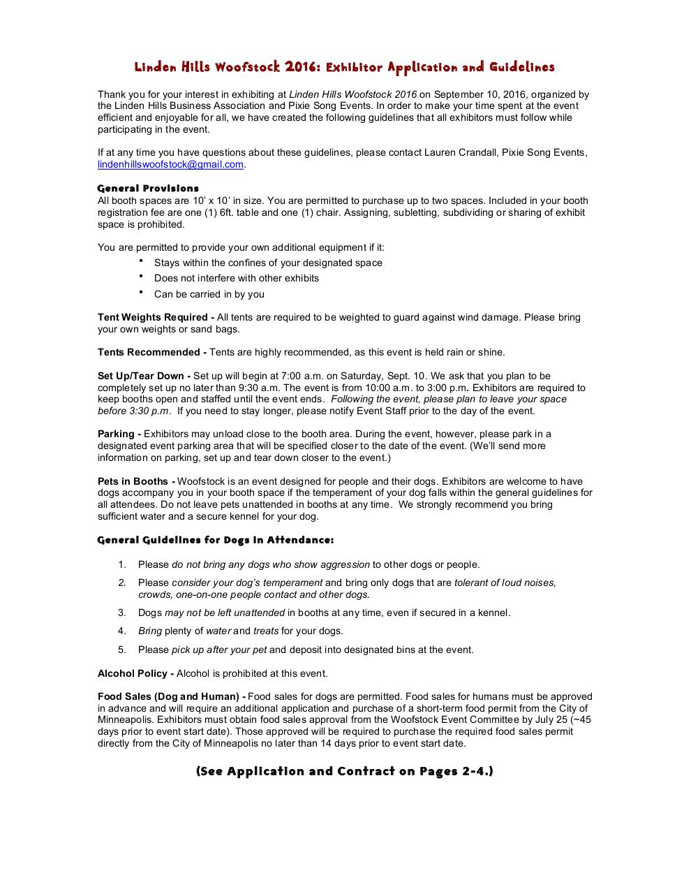 Exhibitor Guidelines & Application Woof 16.pdf - page 1/4
