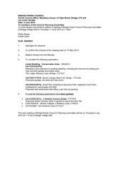 final planning agenda 11 june 2015