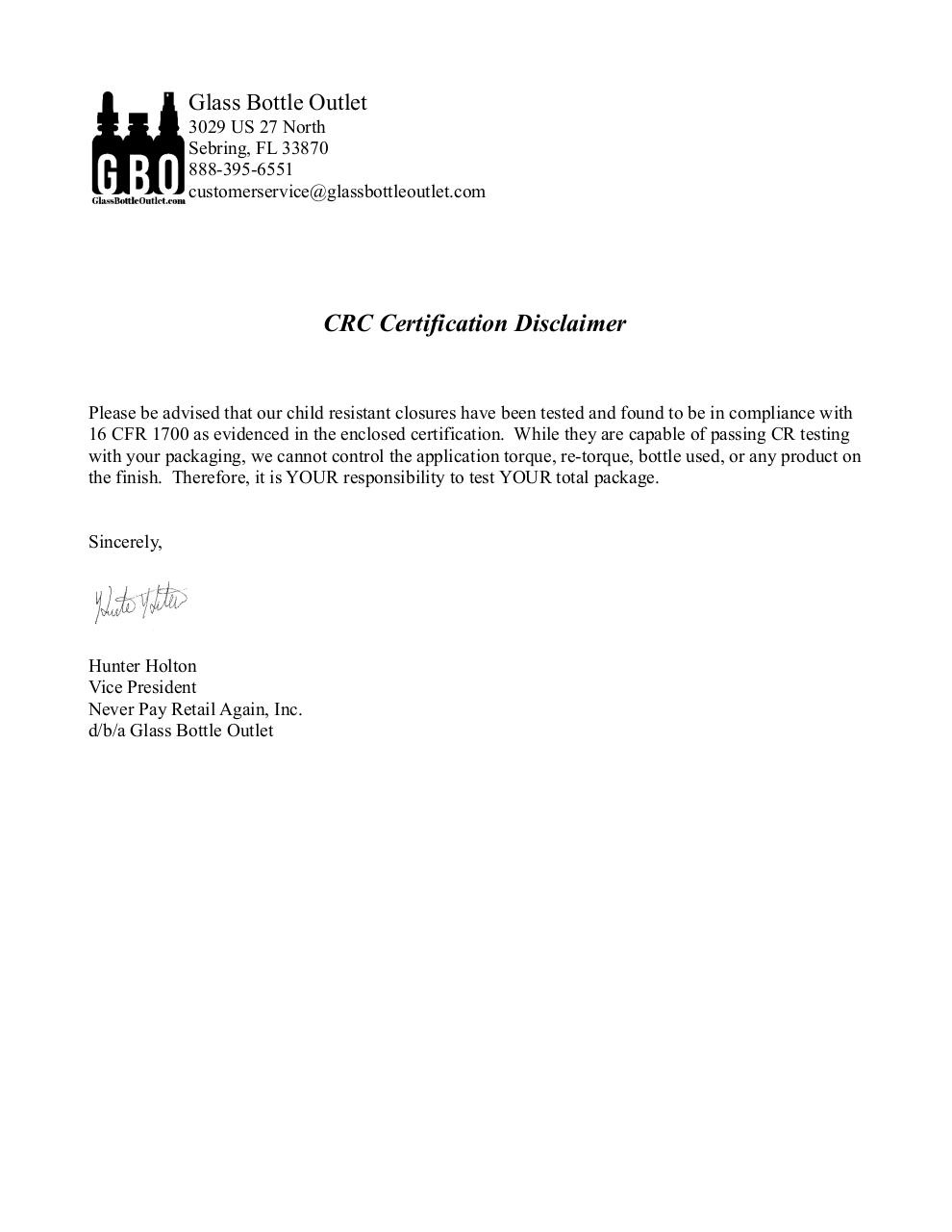 Glass Bottle Outlet 1 oz certification.pdf - page 1/23