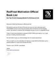 redfrostmotivationofficialbooklist