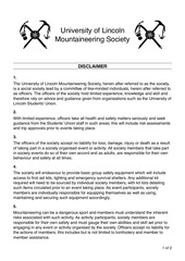 PDF Document mountaineering society disclaimer