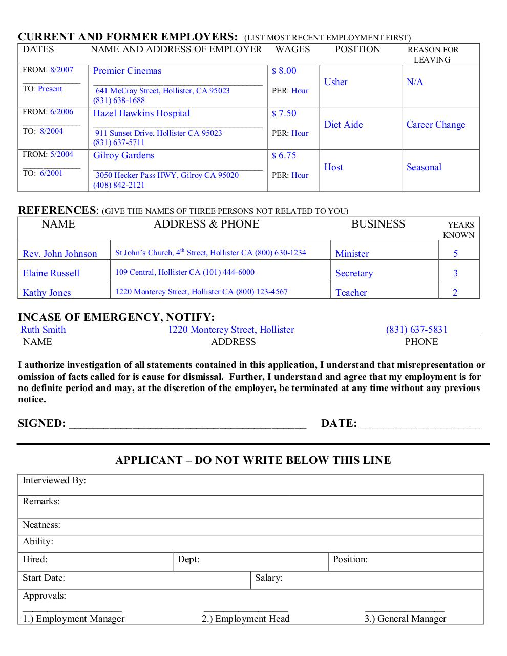 APPLICATION Example job.pdf - page 2/2