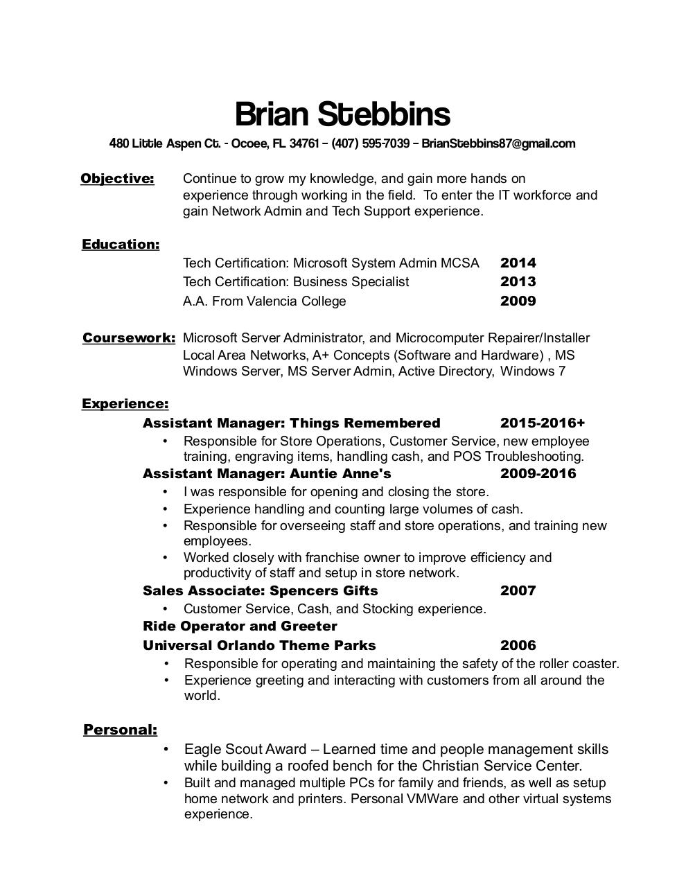 Document preview Brian Stebbins Resume.pdf - page 1/1