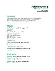 jordan benning resume2015