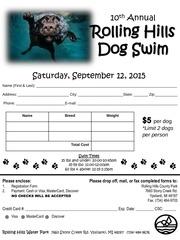 registration form 2015 dog swim