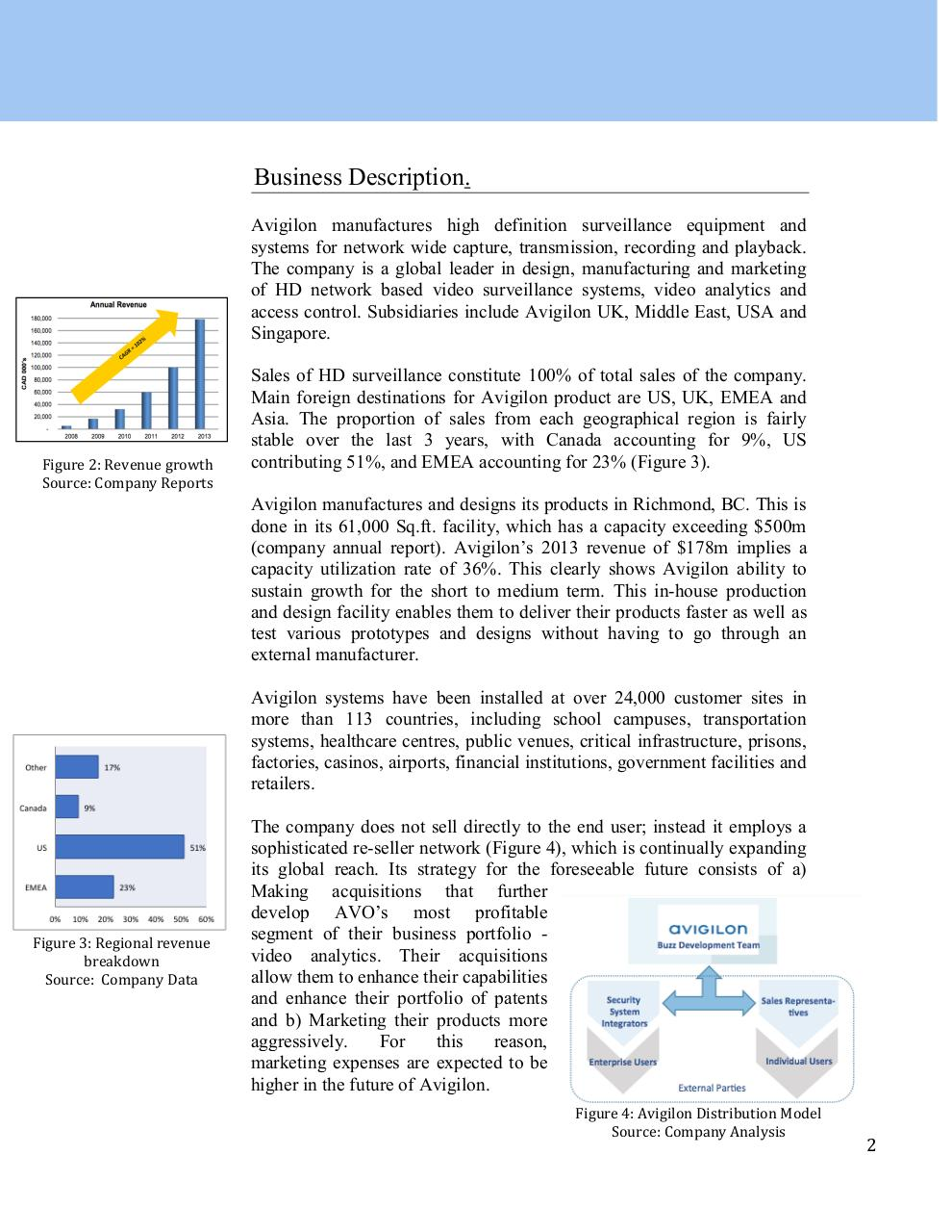 Avigilon Corporation_CFA Research Challenge_Team E (1).pdf - page 3/19