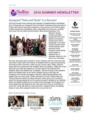 hmb newsletter summer 2016