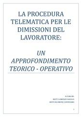 la procedura telematica per le dimissioni del lavoratore