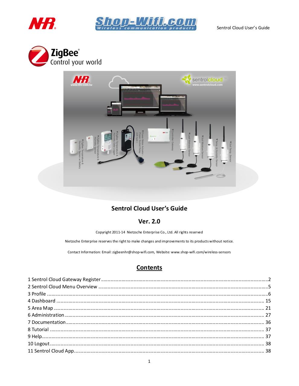 Preview of PDF document sentrol-cloud-user-manual-nhr-shop-wifi.pdf
