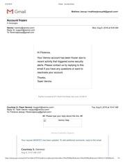 gmail account frozen