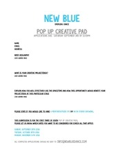 pop up creative pad first last name