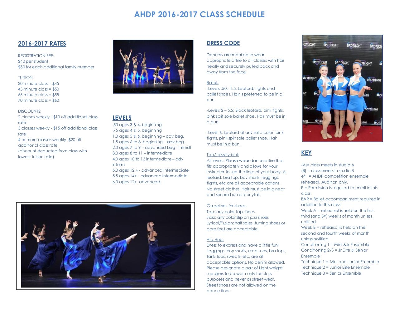 Document preview AHDP 2016 2017 Class Schedule.pdf - page 2/2