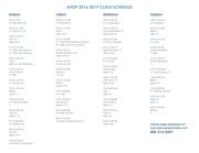 ahdp 2016 2017 class schedule