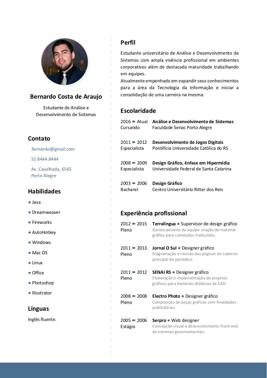 Document preview Currículo - Bernardo Costa de Araujo.pdf - page 1/1