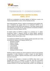convocatoria wayra terminos y condiciones abril 2016