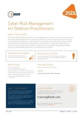 cyber risk management for defence practitioners