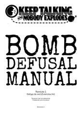 bomb defusal manual en espanol